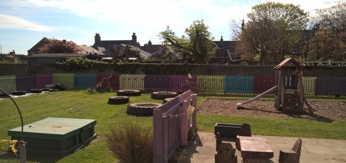 Nursery outdoor learning area resize